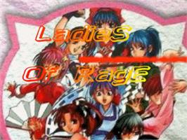 Title screen of Ladies of Rage on the OpenBOR.