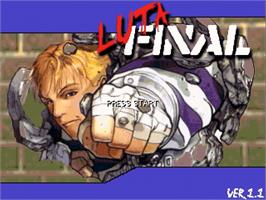 Title screen of Luta Final Fight on the OpenBOR.