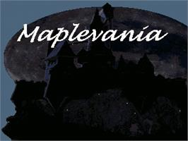Title screen of Maplevania on the OpenBOR.