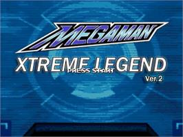 Title screen of MegaMan - Xtreme Legend on the OpenBOR.