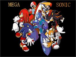 Title screen of Mega Sonic on the OpenBOR.