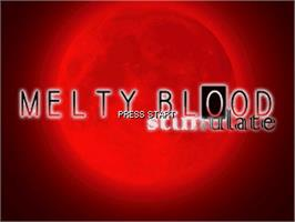 Title screen of Melty Blood Stimulate on the OpenBOR.