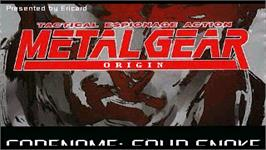 Title screen of Metal Gear Origin on the OpenBOR.