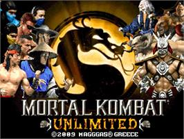 Title screen of Mortal Kombat Unlimited on the OpenBOR.