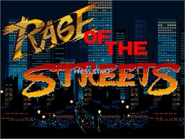 Title screen of Rage of the Streets on the OpenBOR.