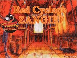 Title screen of Red Cyclone Zangief on the OpenBOR.