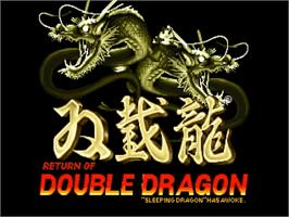 Title screen of Return of the Double Dragon on the OpenBOR.