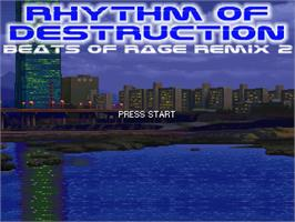 Title screen of Rhythm of Destruction 2 - Blue Edition on the OpenBOR.
