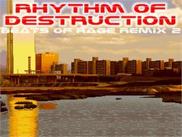 Title screen of Rhythm of Destruction 2 - Red Edition on the OpenBOR.