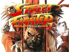Title screen of Rhythm of Destruction 2 - Street Fighter Edition on the OpenBOR.