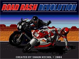 Title screen of Road Rash Revolution on the OpenBOR.