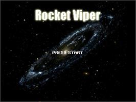 Title screen of Rocket Viper on the OpenBOR.