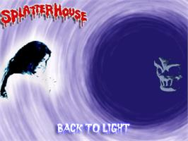 Title screen of Splatterhouse 3 - Back to Light on the OpenBOR.