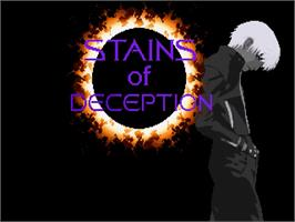 Title screen of Stains of Deception on the OpenBOR.