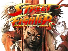 Title screen of Street Fighter - Beats of Rage Remix II on the OpenBOR.