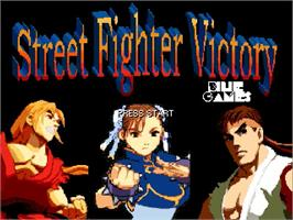 Title screen of Street Fighter Victory on the OpenBOR.