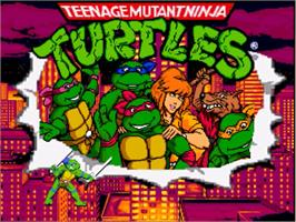 Title screen of TMNT Red Sky Battle on the OpenBOR.