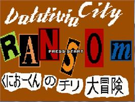Title screen of Valdivia City Ransom on the OpenBOR.
