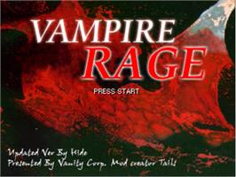 Title screen of Vampires Rage - Hide on the OpenBOR.