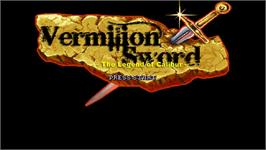 Title screen of Vermilion Sword on the OpenBOR.