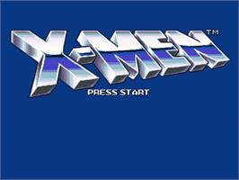 Title screen of X-Men on the OpenBOR.