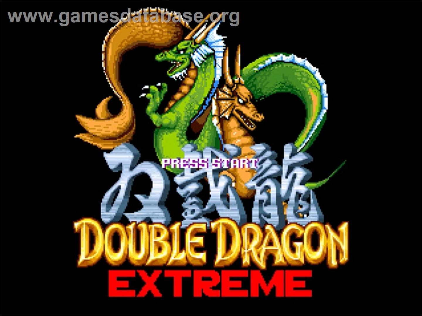 Double Dragon Extreme - OpenBOR - Artwork - Title Screen