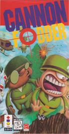 Box cover for Cannon Fodder on the Panasonic 3DO.