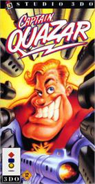 Box cover for Captain Quazar on the Panasonic 3DO.