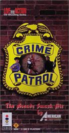 Box cover for Crime Patrol v1.4 on the Panasonic 3DO.