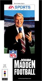 Box cover for John Madden Football '93 on the Panasonic 3DO.