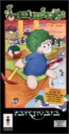 Box cover for Lemmings on the Panasonic 3DO.
