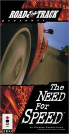 Box cover for Need for Speed on the Panasonic 3DO.