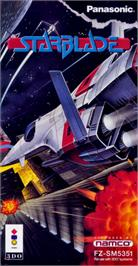 Box cover for Starblade on the Panasonic 3DO.