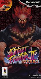 Box cover for Super Street Fighter II Turbo on the Panasonic 3DO.