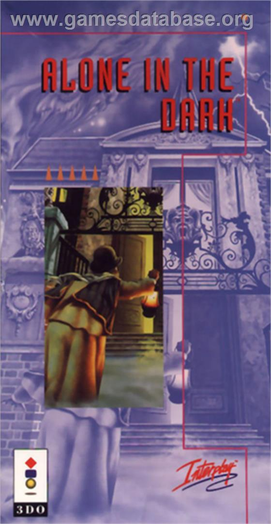Box cover for Alone in the Dark on the Panasonic 3DO.
