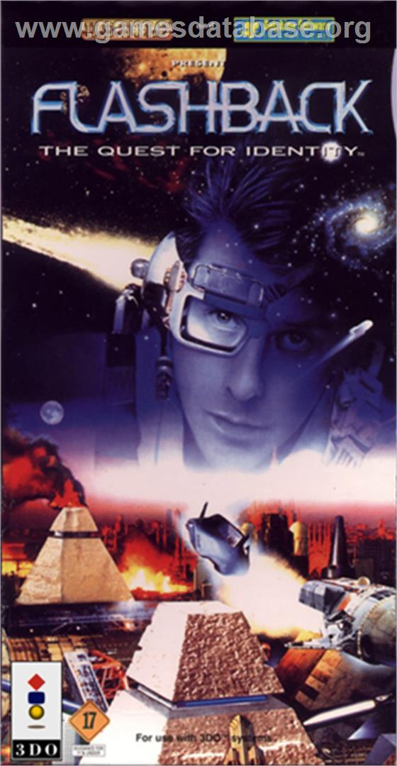 Box cover for Flashback on the Panasonic 3DO.