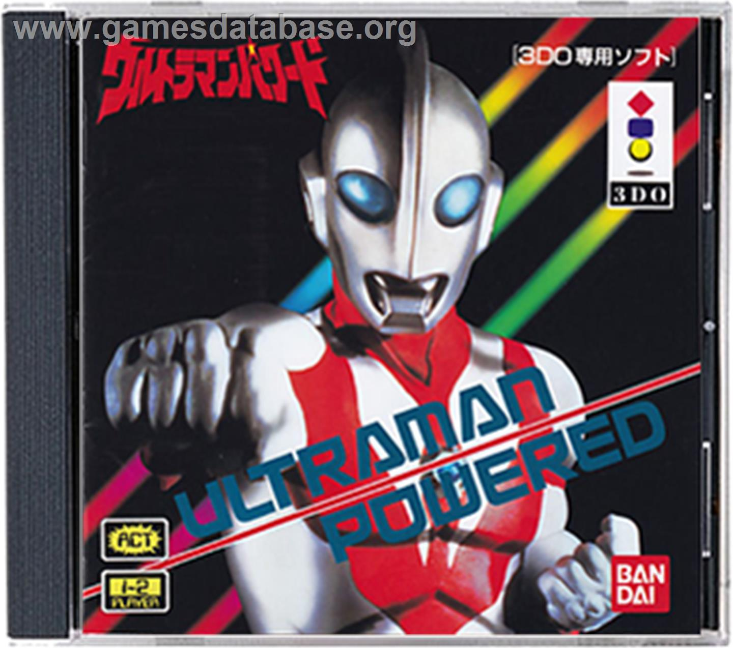 Box cover for Ultraman Powered on the Panasonic 3DO.