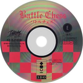 Artwork on the Disc for Battle Chess on the Panasonic 3DO.