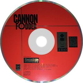 Artwork on the Disc for Cannon Fodder on the Panasonic 3DO.