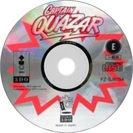 Artwork on the Disc for Captain Quazar on the Panasonic 3DO.
