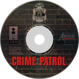 Artwork on the Disc for Crime Patrol v1.4 on the Panasonic 3DO.