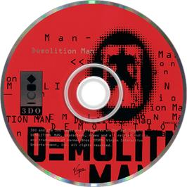 Artwork on the Disc for Demolition Man on the Panasonic 3DO.