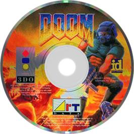 Artwork on the Disc for Doom on the Panasonic 3DO.