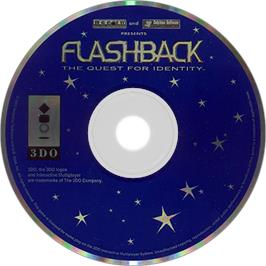 Artwork on the Disc for Flashback on the Panasonic 3DO.
