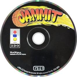 Artwork on the Disc for Jammit on the Panasonic 3DO.