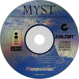 Artwork on the Disc for Myst on the Panasonic 3DO.