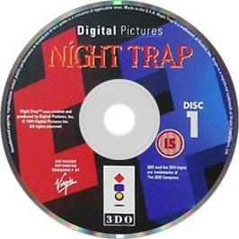 Artwork on the Disc for Night Trap on the Panasonic 3DO.