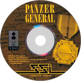 Artwork on the Disc for Panzer General on the Panasonic 3DO.