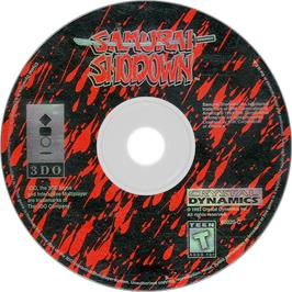 Artwork on the Disc for Samurai Shodown / Samurai Spirits on the Panasonic 3DO.