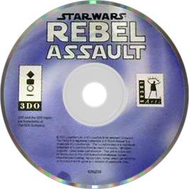 Artwork on the Disc for Star Wars: Rebel Assault on the Panasonic 3DO.